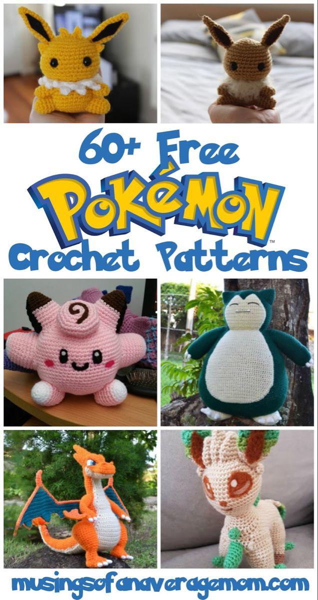 Photo of Pokemon 60 free crochet patterns