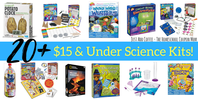 JustAddCoffee- The Homeschool Coupon Mom : 20+ Science Kits Under $15.00!!!
