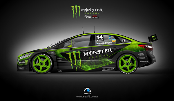 2014 2015 Racing Design Illustration On Behance In 2020 Monster Energy Rally Car Design Futuristic Cars