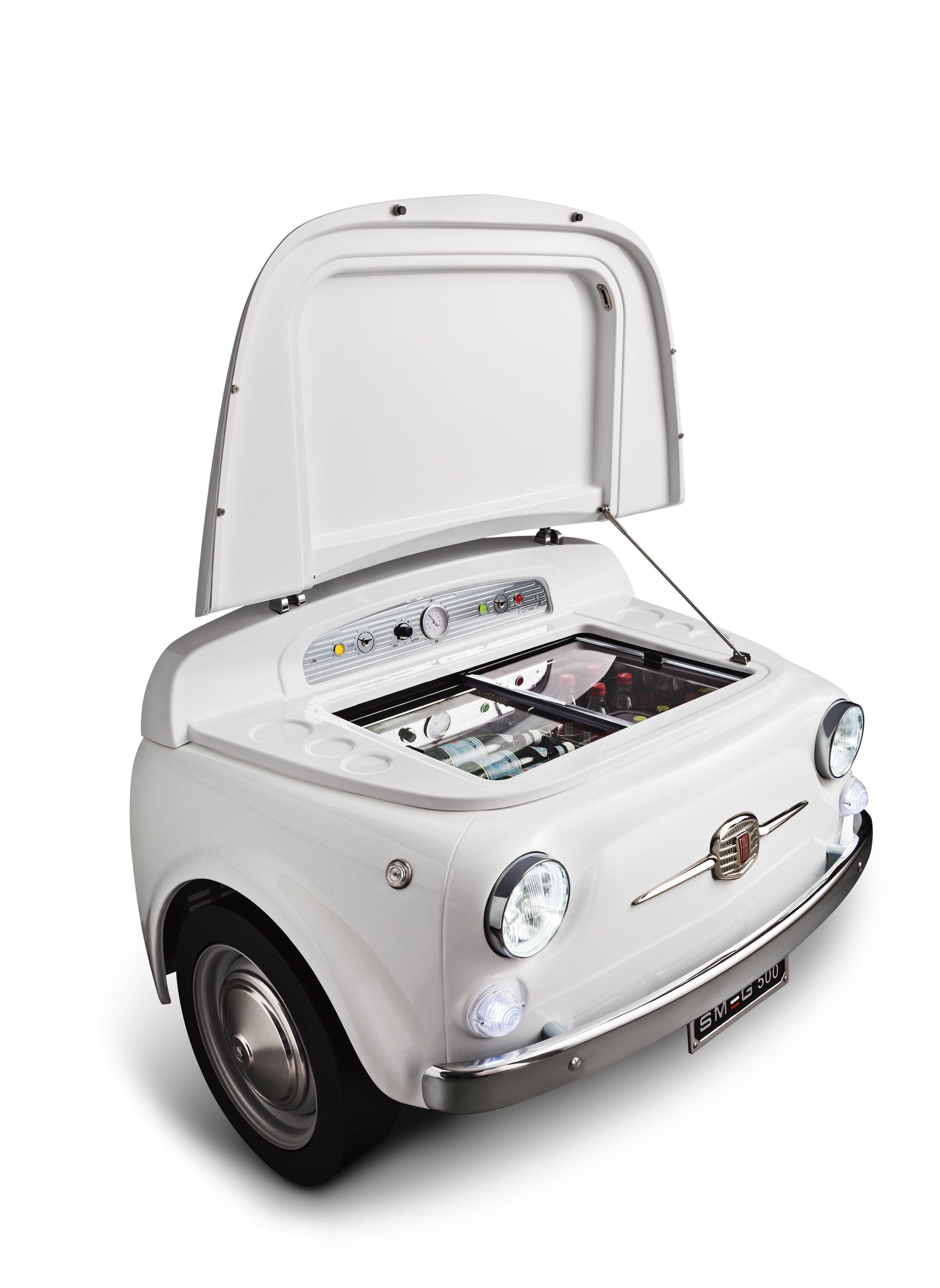 Smeg500b Exclusive Fiat500 Design Refrigerator Cellar White