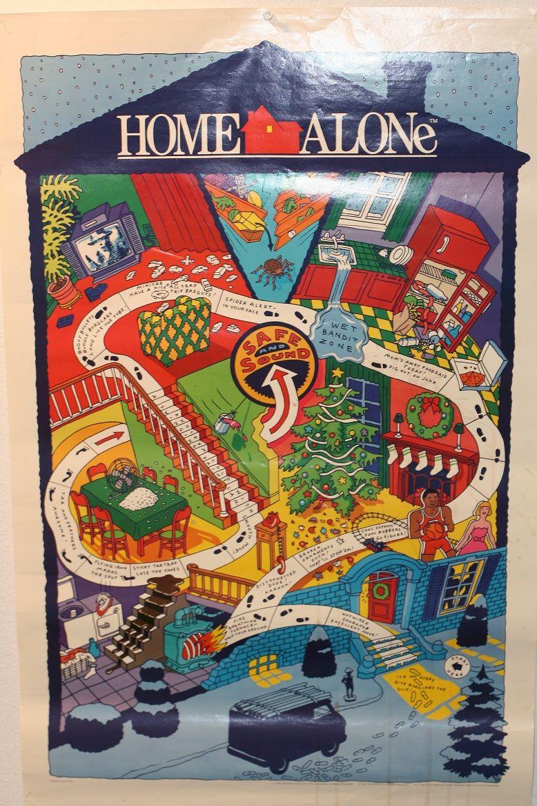 Home Alone Battle Plan Map poster Maps Pinterest