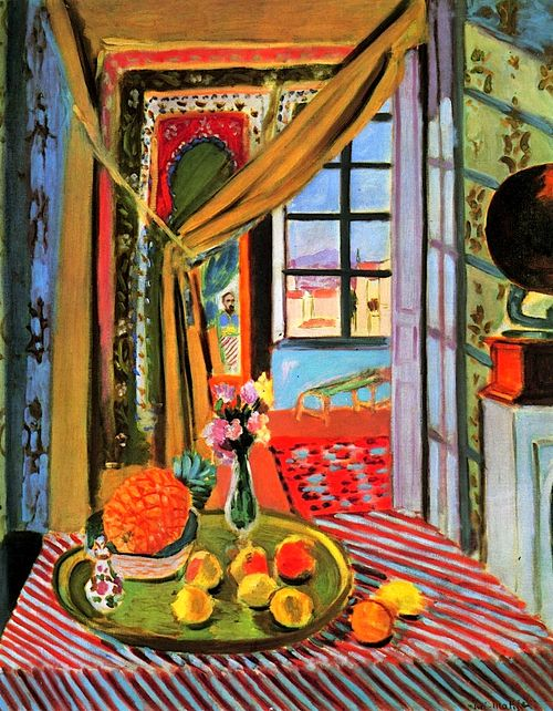 henri matisse interior at nice france 1924 interiors. Black Bedroom Furniture Sets. Home Design Ideas