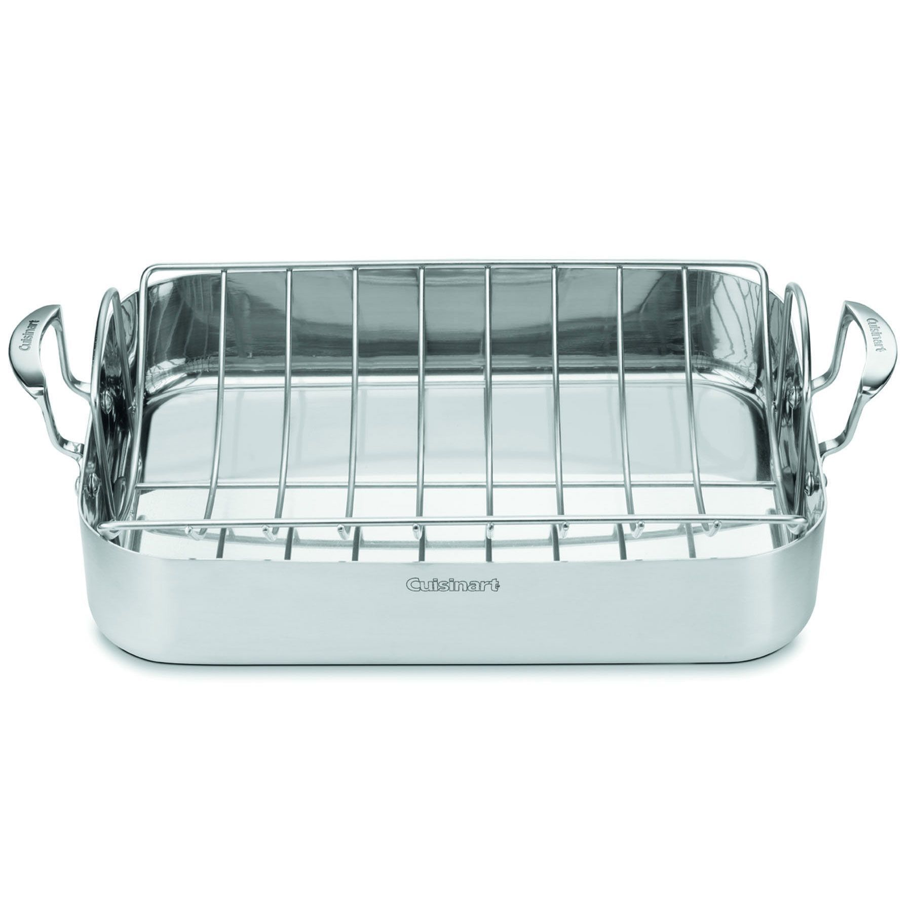 Cuisinart Dish Rack Adorable Cuisinart Multiclad Pro Stainless 16Inch Rectangular Roaster With Decorating Inspiration