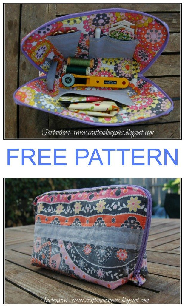 Zipper sewing case - free pattern | sewing | Pinterest | Quilt ...