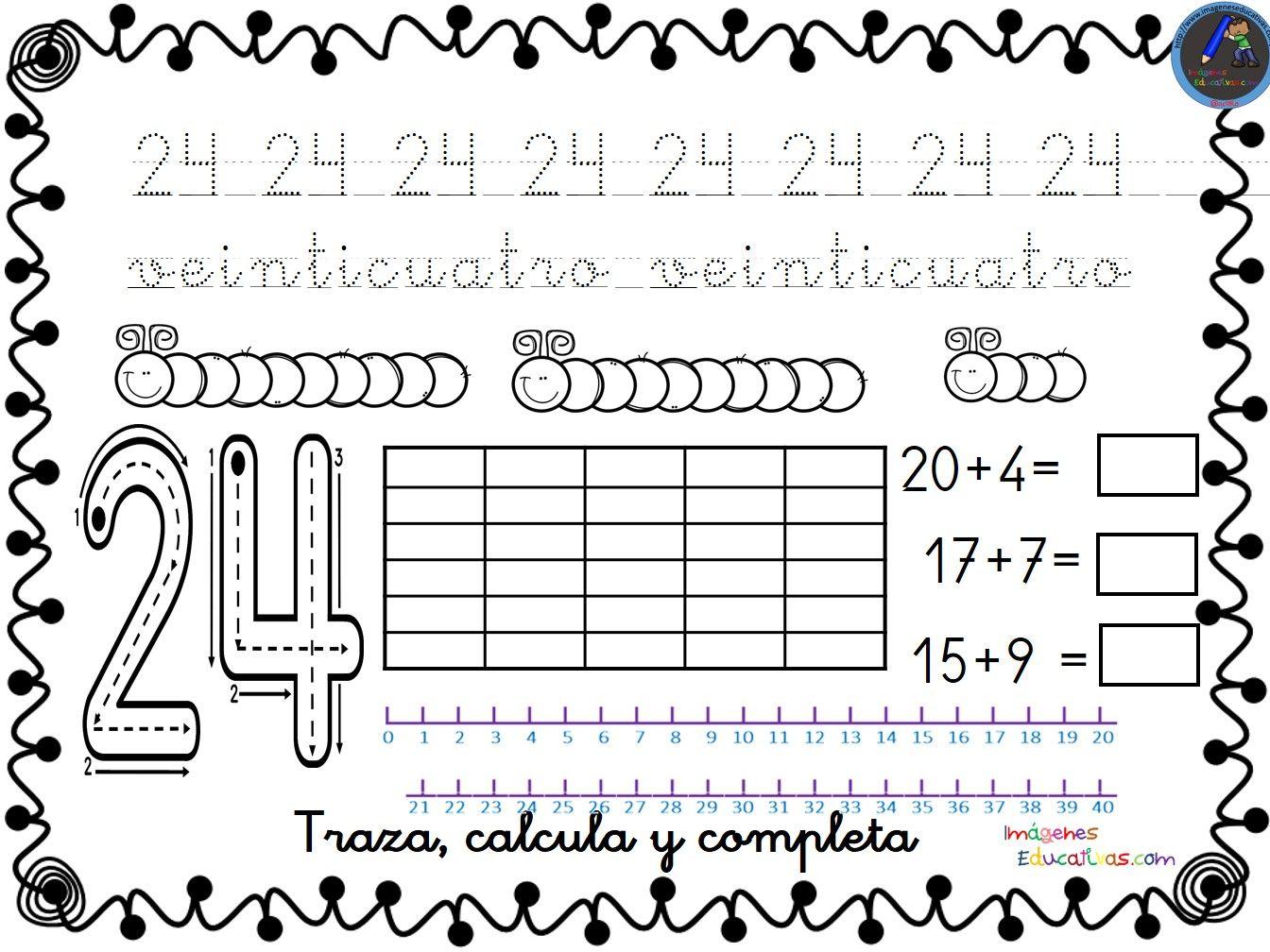 Coleccion De Fichas Para Trabajar Los Numeros Del 1 Al 30 24 Jpg