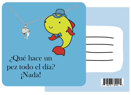 Safira Fish Necklace Funny Puns Spanish Birthday Cards Pun Quotes