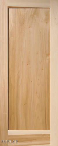 1 Panel Flat Shaker / Mission Stain Grade Poplar Solid Core Wood Interior  Doors #GlobalONEForestProductsPremiumWoodDoors