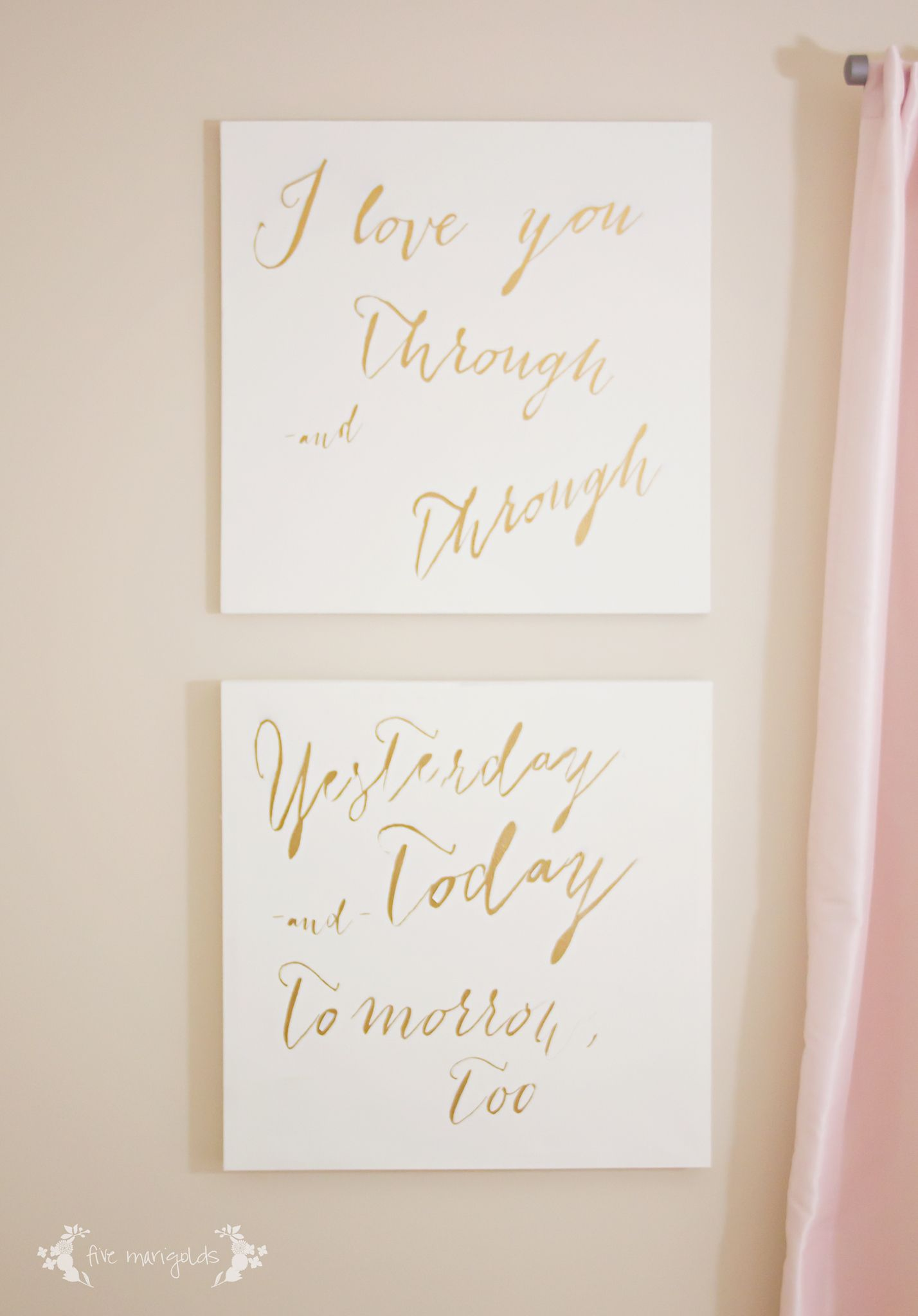 Diy Canvas Wall Art For Baby Nursery I Love You
