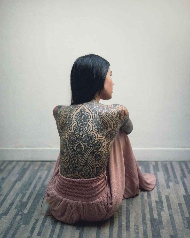 Photo of Tattoo model Anh Wisle, alternative photo model, tattooed girl | France Check mo…