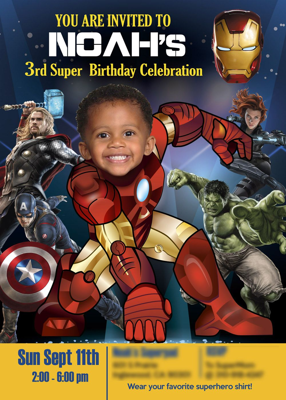 Ironman Birthday Party Invitation Nice Sample Ironman Birthday