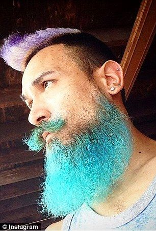 Multicolored merman hair and beards is the new summer trend for guys ...