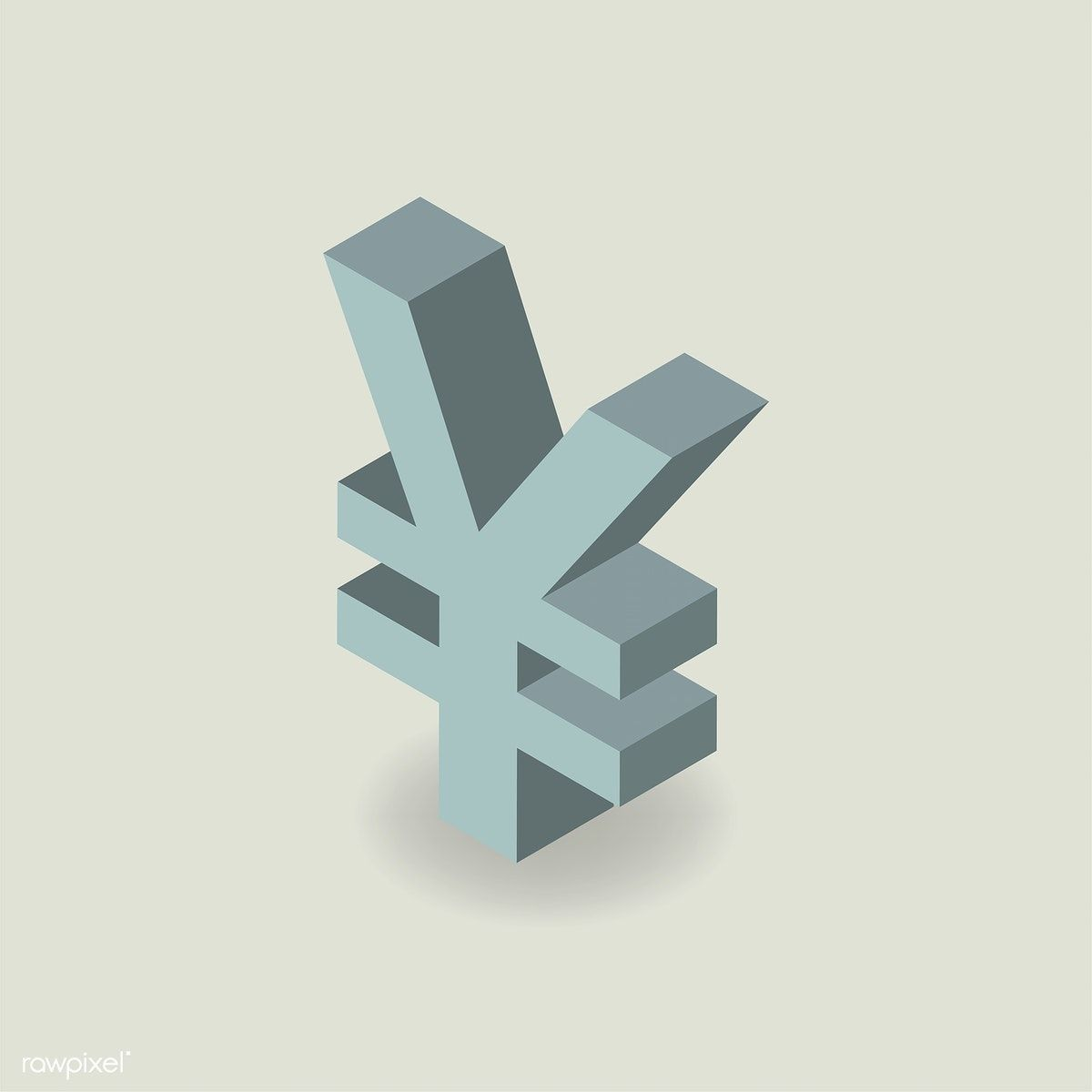 Vector Icon Of Japanese Yen Currency Symbol Free Image By Rawpixel