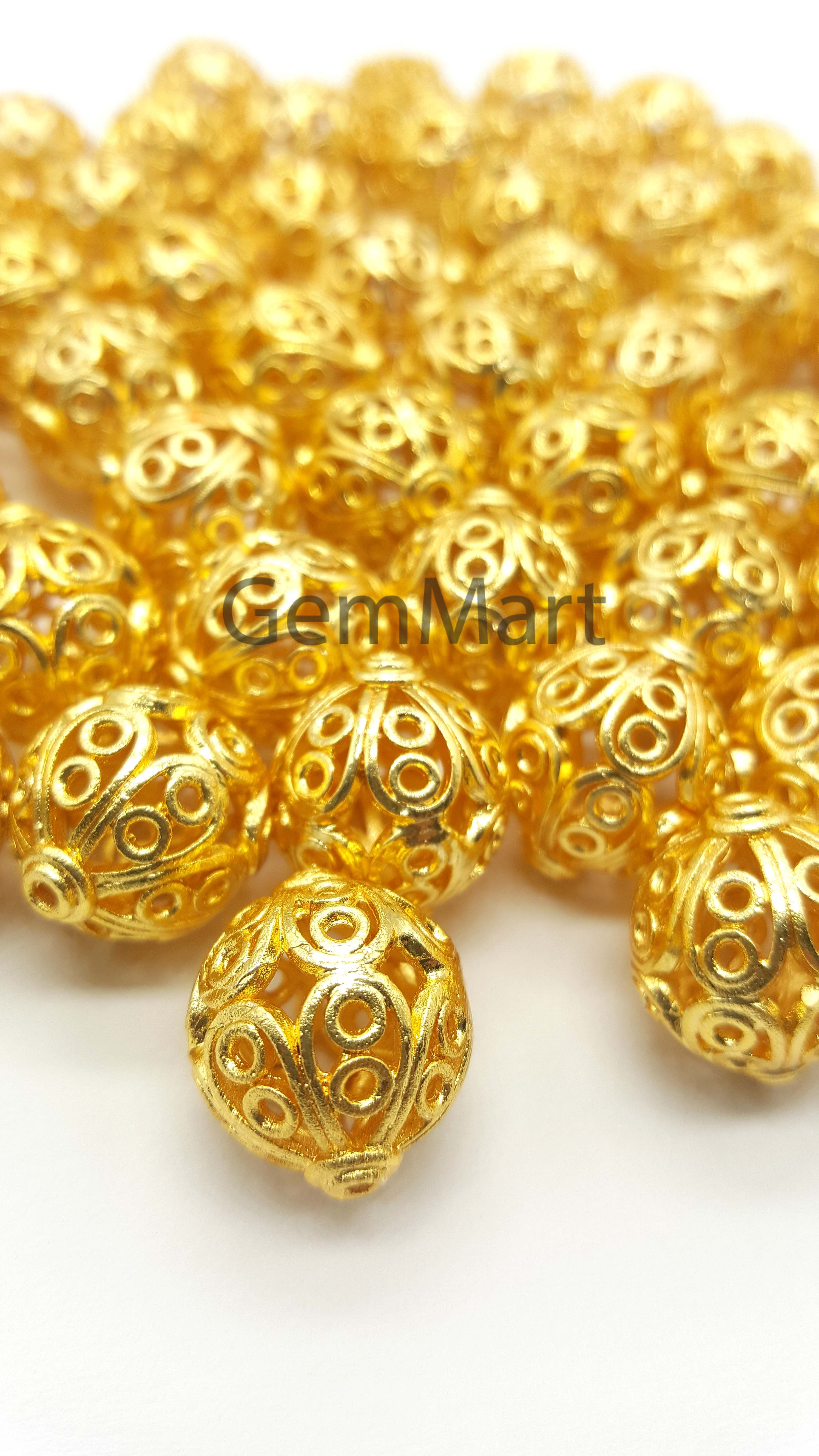 S04234 24x21x5 K-Gold plated Copper Unakite Gem Rabbit Pendant Bead