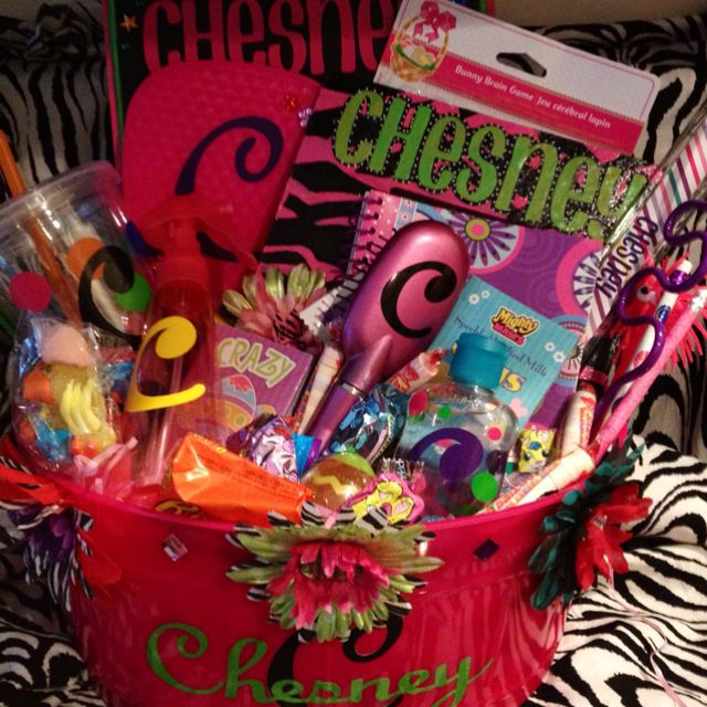 Personalized Easter basket for little girl by Lindsay Davis!