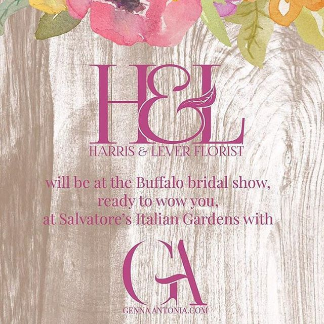 Come see us at Salvatore's today from 11-4!  While your here snap a pic of our booth and tag #WillYouBeMyClient? #HarrisandL verFloirst & #GennaAntonia. One lucky winner will win $100 off their wedding order AND a free design for an invitation menu & RSVP card!  RULES:  Must be following @harrisandleverflorist & @_gennaantonia  Must have all hashtags  Must be a photo from today's bridal show
