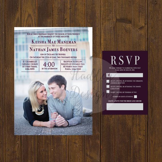 Hey, I found this really awesome Etsy listing at https://www.etsy.com/listing/286159429/photo-wedding-invitation-picture-wedding