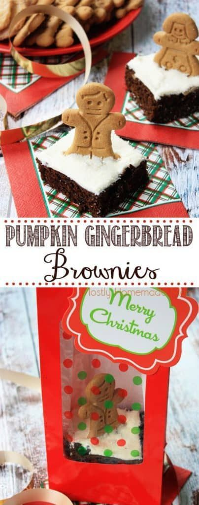 Pumpkin Gingerbread Brownies Pumpkin Gingerbread Brownies are the perfect addition to your Christma