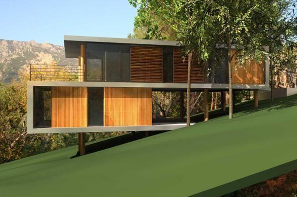 1000 images about maison passive bois on pinterest home bbc and la mode - Maison En Bois Moderne