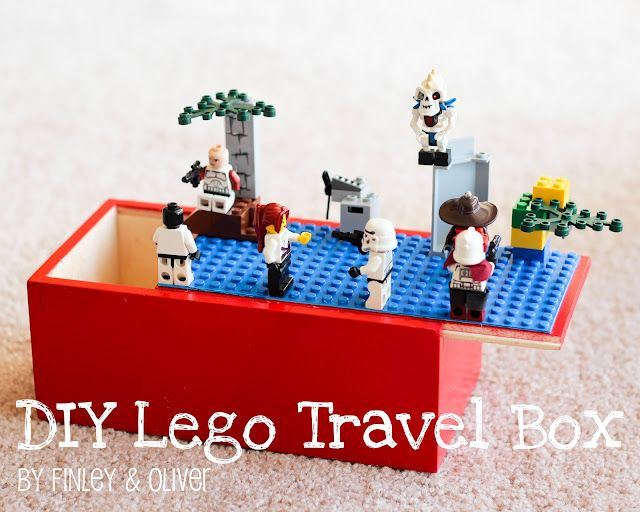 what a great idea!! DIY Lego travel box. via Finley & Oliver