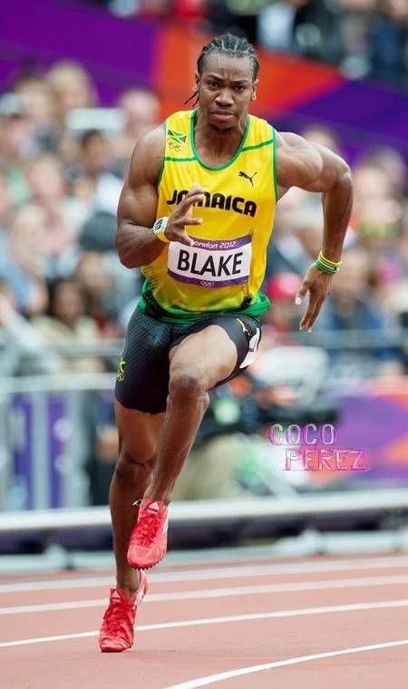 Yohan Blake corrent als Jocs Olímpics de Londres 2012. | Track and field, Track and field athlete