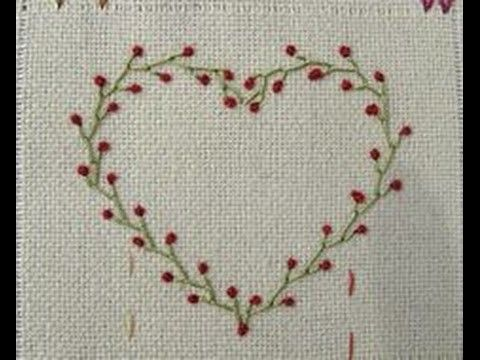 How To Diy Embroidery Heart Hand Basic Stitches Tutorial