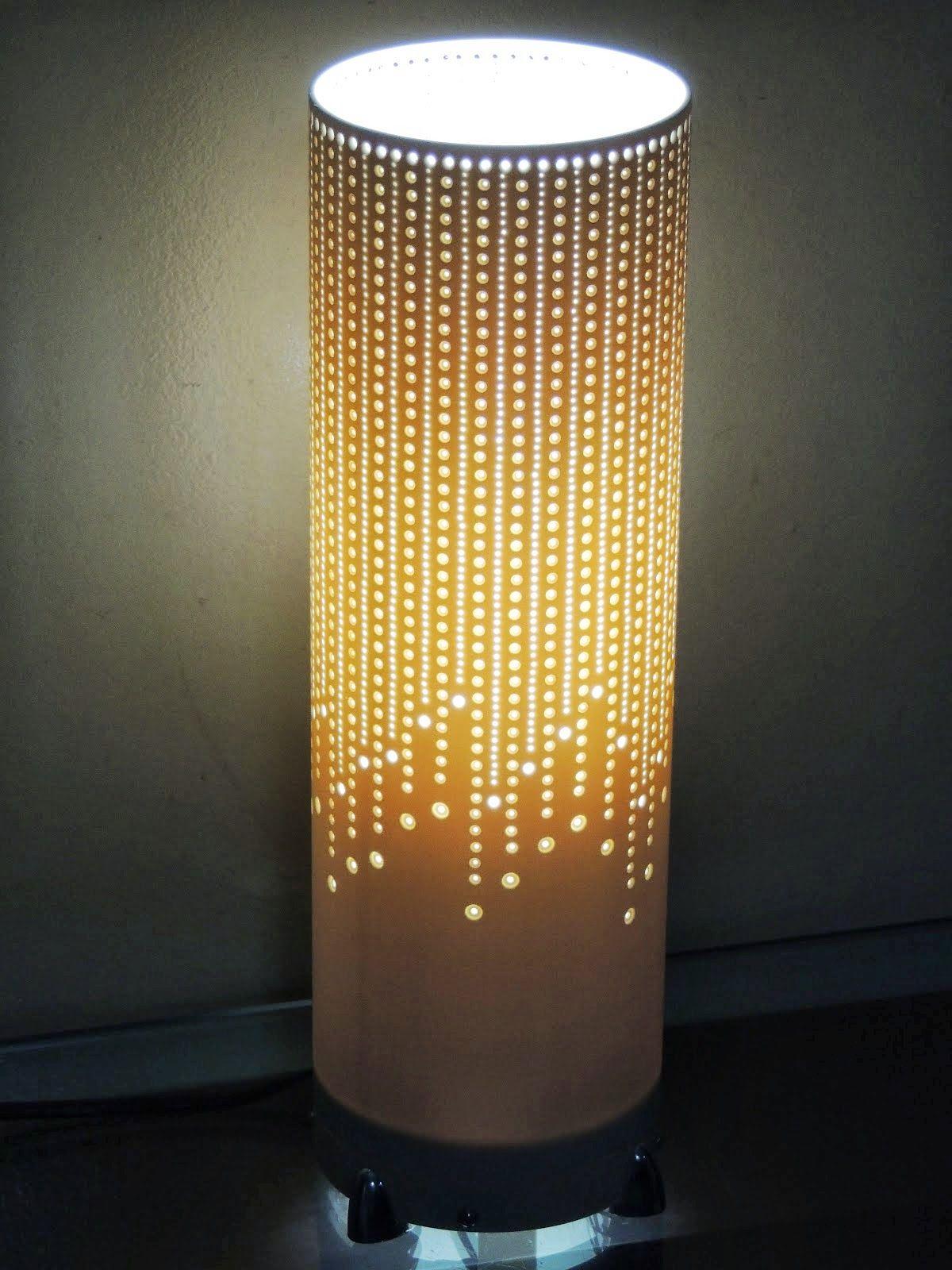 Adesivo De Parede Infantil Masculino ~ Barbaridade Reciclagem Luminárias com tubo de PVC artesanato Pinterest Tubo de pvc