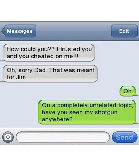 Funny Meme Texts : Text message meme wrong to dad cheated funny