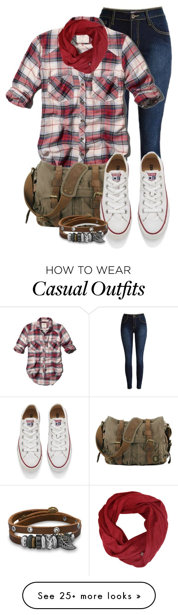 """casual"" by alice-fortuna on Polyvore featuring Abercrombie & Fitch, Converse, women's clothing, women's fashion, women, female, woman, misses and juniors"