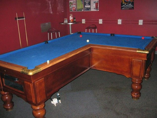 L Shaped Pool Table Pool Table Pool Table Moving Man Cave Home Bar