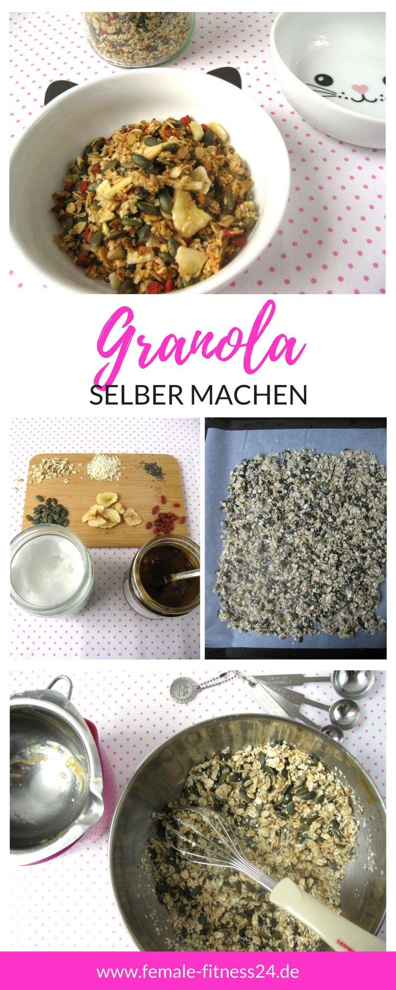 diy granola knusperm sli selber machen rezept ohne kristallzucker blogmix gruppenboard. Black Bedroom Furniture Sets. Home Design Ideas