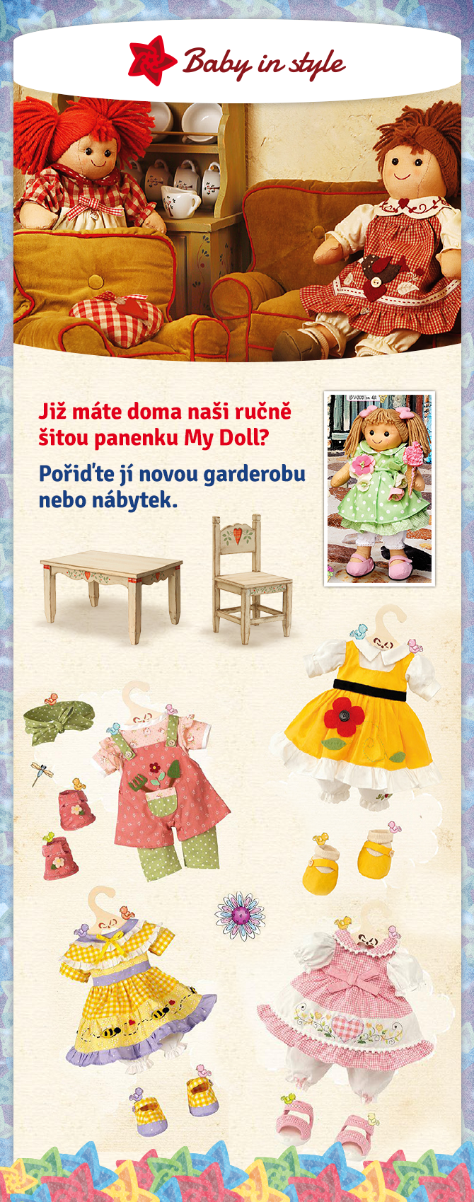 All little girls love to take care of their dolls. The