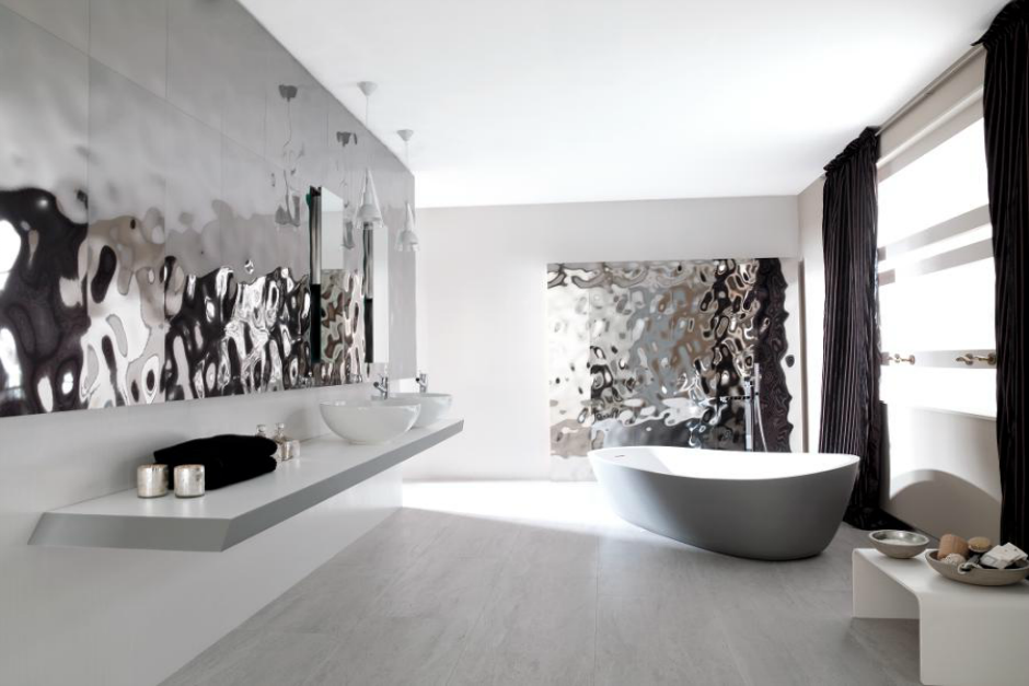 trends to watch in 2016 metallics porcelanosa metallic stylestyle tilescontemporary bathroomsmosaicsparkle