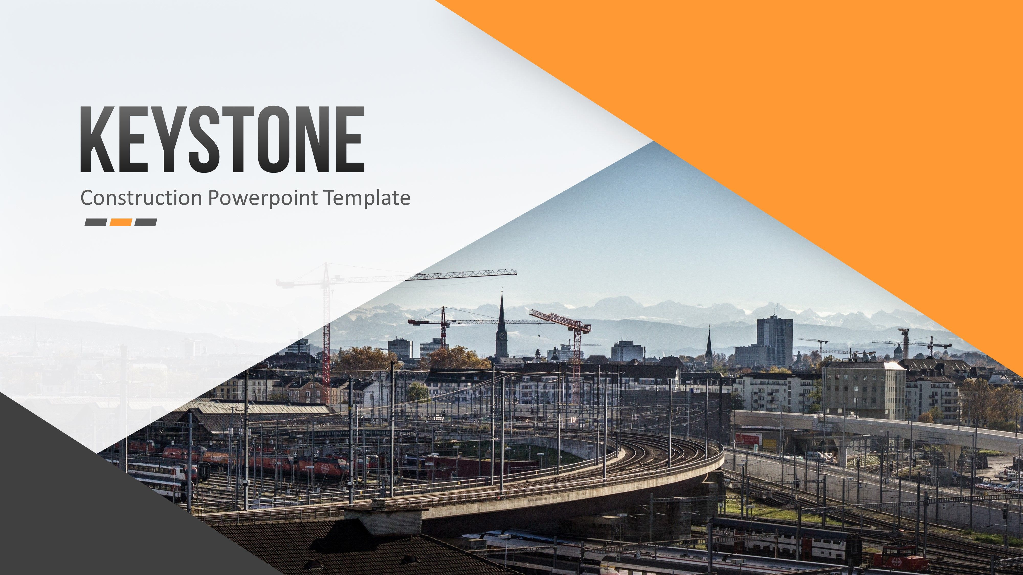 Keystone Construction Powerpoint Template Templates