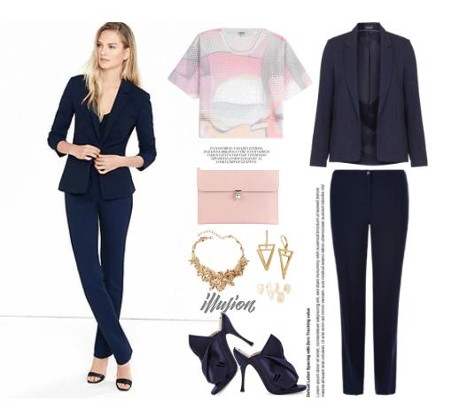 Look 2 para trabajo/traje azul marino