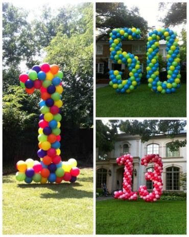 Giant Balloon Numbers For The Yard