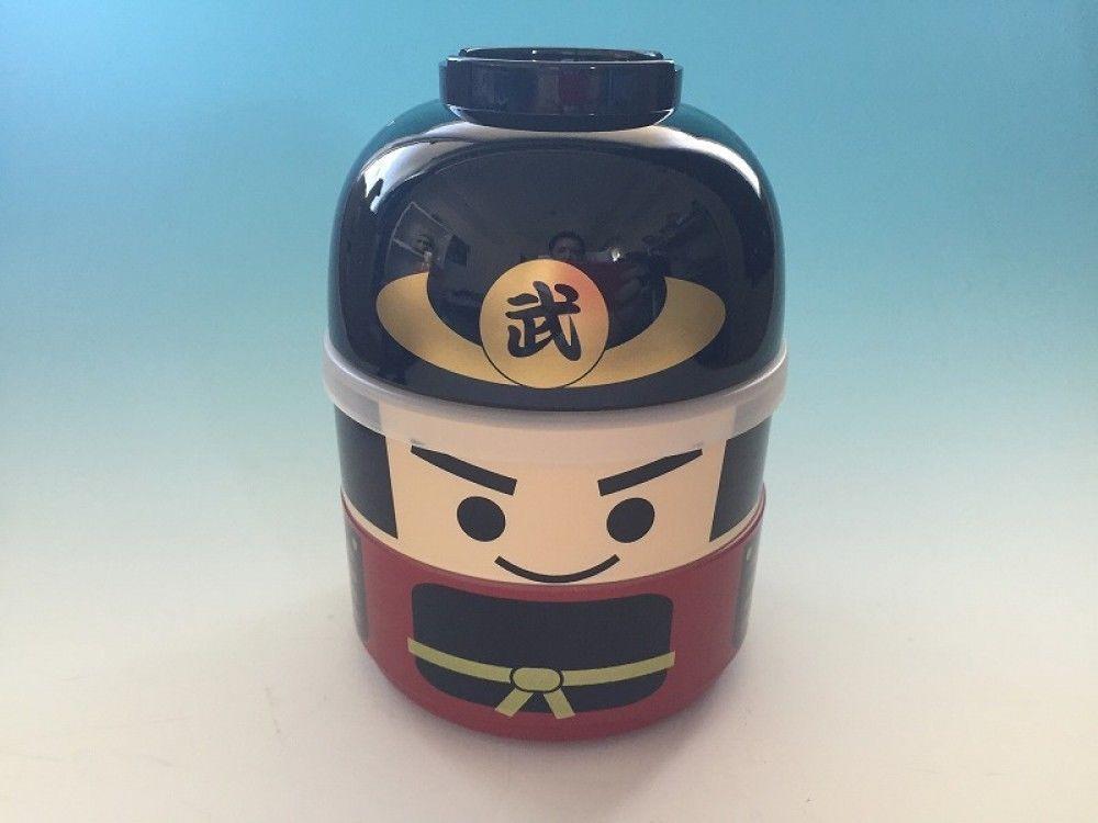 Lunch Box Bento Samurai Container Food Storage Portable Japanese Hakoya Gift 160 #HAKOYA