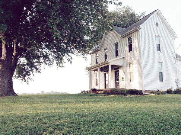 Our Old White Farmhouse Old Farm Houses House Exterior