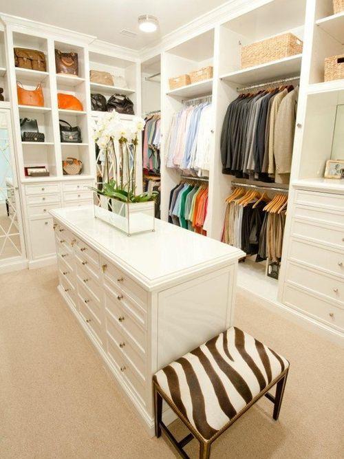 25 Perfect And Stylish Walk In Closets Home Closet Island Walk