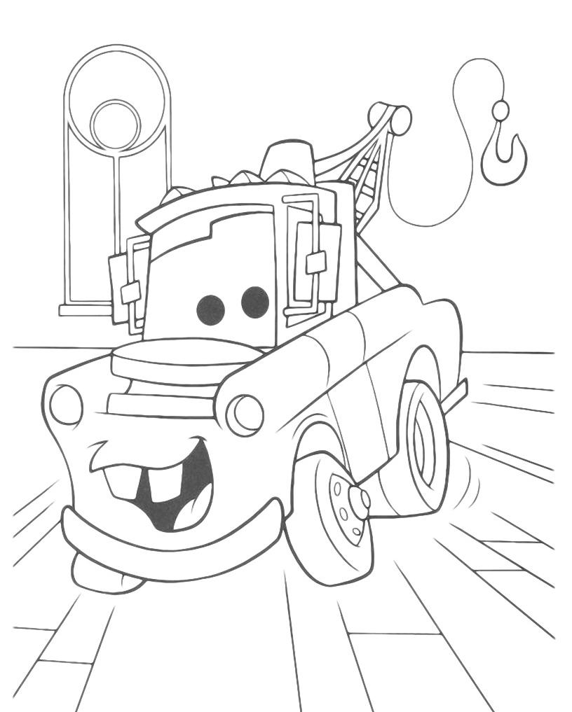 Carl Attrezzi detto Cricchetto Cars da colorare per bimbi | Disegni ...