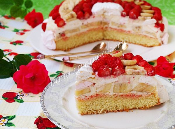 Торт с зефиром и фруктами — рецепт с фото | Рецепт | Идеи ...