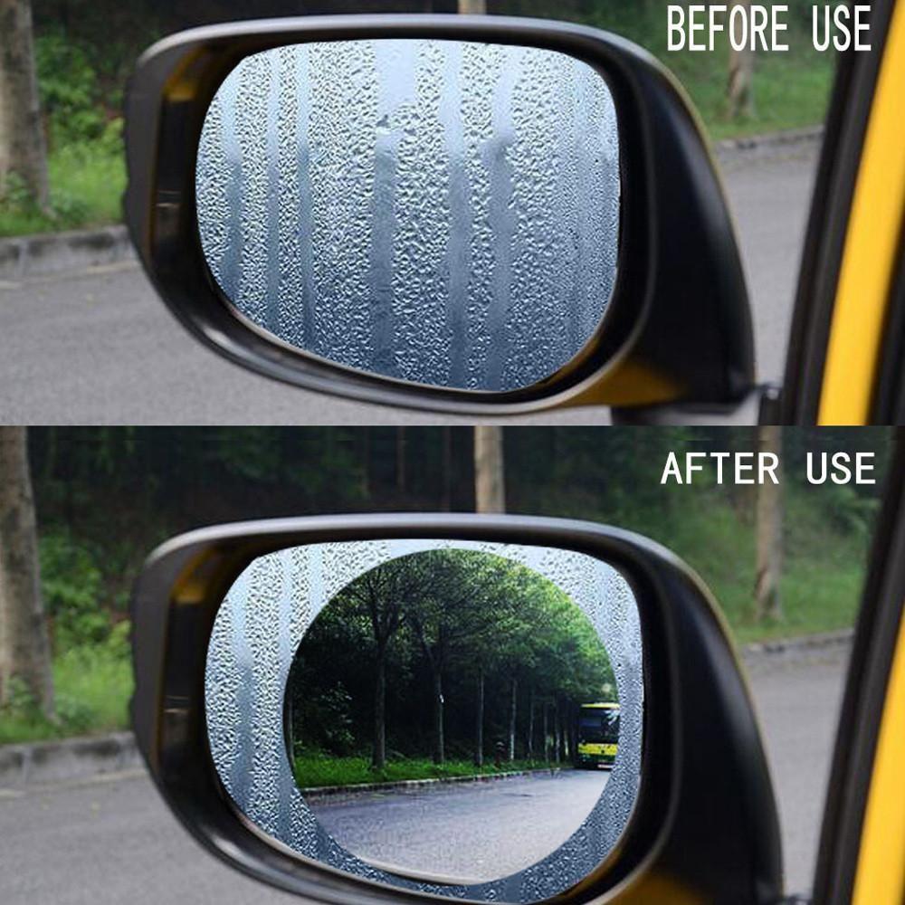 Waterproof Anti Fog Side Mirror Film 2 Pcs Mirrors Film Rear View Mirror Wing Mirrors