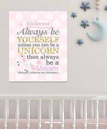 Love this 'Always Be Yourself' Personalized Wrapped Canvas on #zulily! #zulilyfinds