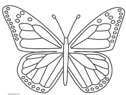 Resultado De Imagen De Pintar Mariposa Con Numeros Plantilla De Mariposa Dibujo Simple De Mariposa Como Dibujar Mariposas