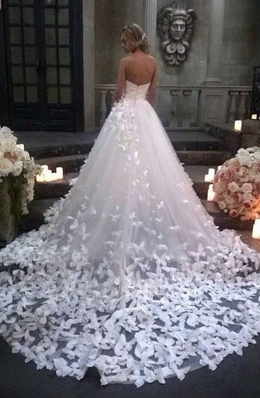 Butterfly Wedding Dress In 2019 Wedding Dresses With