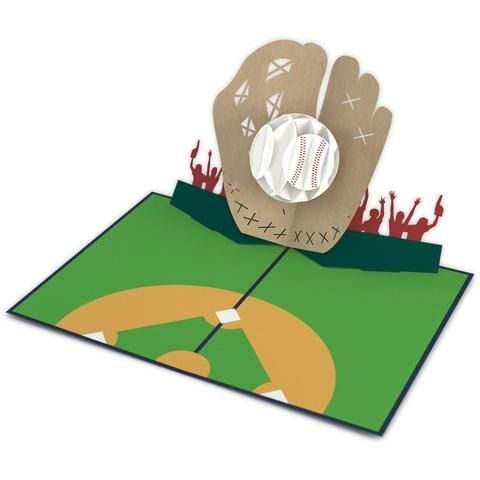 Baseball Pop Up Father S Day Card 3d Pop Up Card Open Lovepop Pop Up Cards Dad Cards Cards