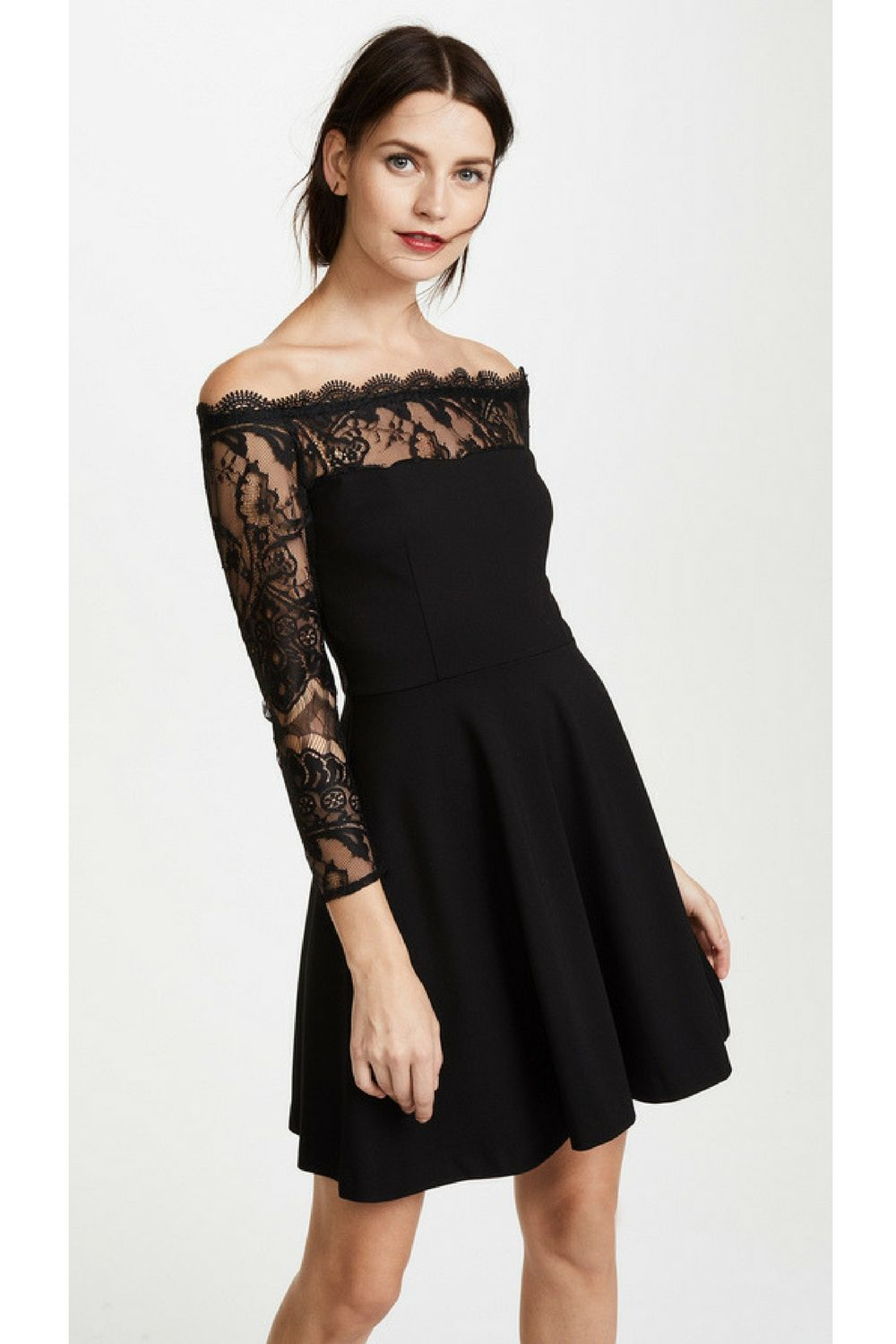 74d32d429efaa $110 BB Dakota Dennett Lace Off the Shoulder Dress This fit-and-flare BB  Dakota dress has an alluring off-shoulder neckline trimmed with scalloped  lace.