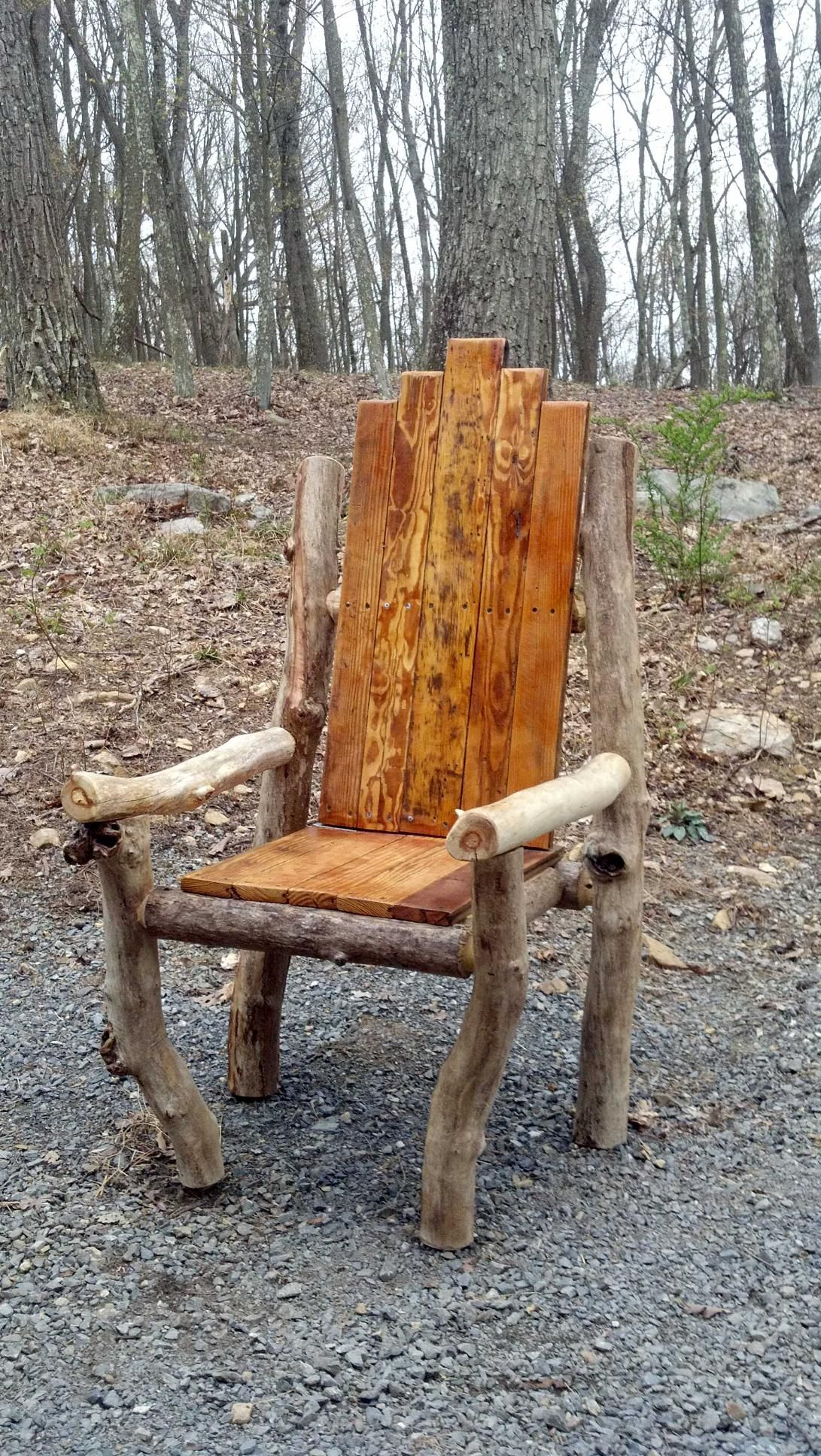 stuhl aus esten woodworking rustic pallet projects. Black Bedroom Furniture Sets. Home Design Ideas