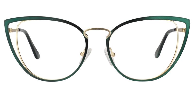 Photo of Epochen Cateye Green Glasses | Zeelool Optical