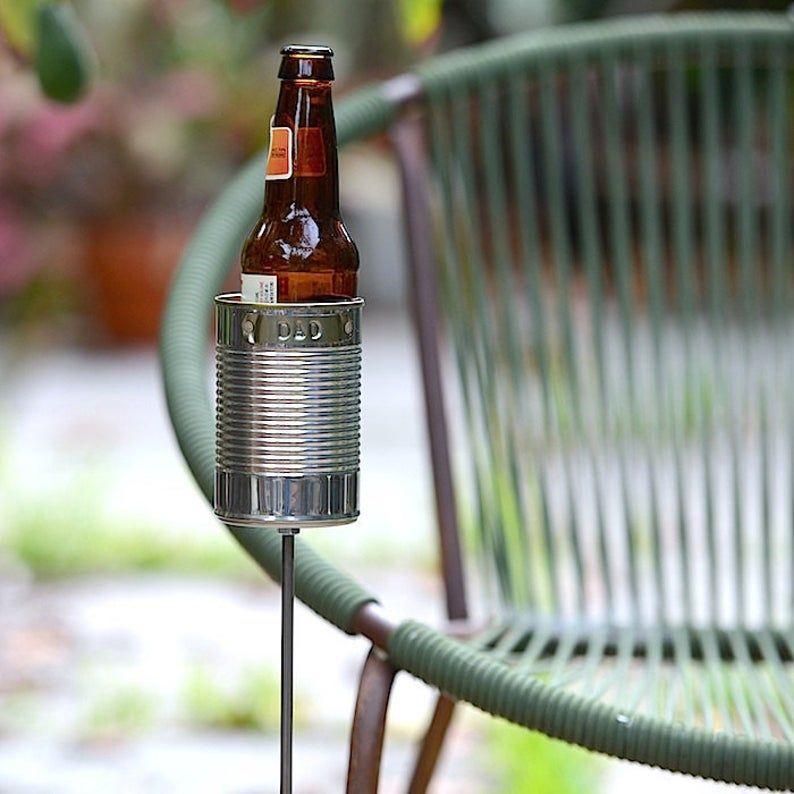 Dad hobo tin can beer holder garden drink holder etsy in