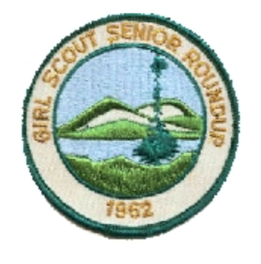 1962 SENIOR ROUNDUP PATCH VINTAGE GIRL SCOUT